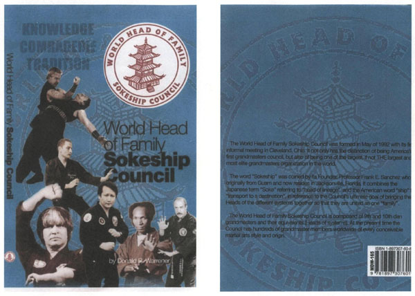 World Head of Family Sokeship Council Book (composite of front & back cover)